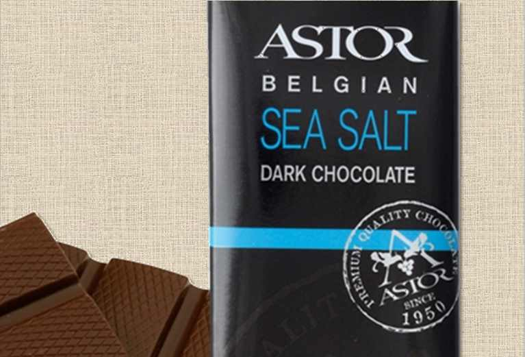 Astor Belgian Sea Salt Dark Chocolate